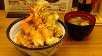 ズワイガニと煮穴子天丼